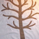 ALAP falikép fával, óvodáknak (évszakfához), Baba-mama-gyerek, Dekoráció, Ez a falikép egy fát ábrázol, ágai közt tépőzárak lapulnak. Célja, hogy minden évszakban más appliká..., Meska