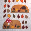ŐSZ - applikáció készlet óvodáknak (évszakfához), Baba-mama-gyerek, Dekoráció, Tépőzárral ellátott kis applikációk az ŐSZ-höz A csomag tartalma: 1 db sünis domb avarral 1 db gombá..., Meska