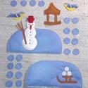 TÉL - applikáció készlet óvodáknak (évszakfához), Baba-mama-gyerek, Dekoráció, Tépőzárral ellátott kis applikációk a TÉL-hez A csomag tartalma: 1 domb hóemberrel 1 domb szánkóval,..., Meska