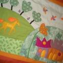 Lovas falikép, lányos 150 x 80cm, Baba-mama-gyerek, Gyerekszoba, Falvédő, takaró, Falikép gyerekszobába, melyet sok-sok szeretettel és nagy kedvvel készítettem. Színeit úgy válogatta..., Meska