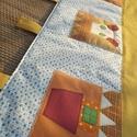 Kislány falvédő ágy mellé 120 x 90 cm, Baba-mama-gyerek, Gyerekszoba, Falvédő, takaró, Színes és mintás pamutvásznakból készült ez a falikép. Applikációs technikával kerültek rá a figurák..., Meska