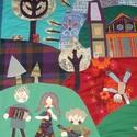 Iskolai köszöntőkép, 270 x 160 cm, Dekoráció, Kép, Ezt a nagyméretű textil faliképet egy kedves iskolába készítettem, ajándékképpen. Szívesen..., Meska