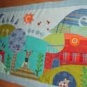 Manós falvédő 160x80 cm, Otthon, lakberendezés, Lakástextil, Falvédő,   A Megrendelő gondolatai alapján,  egyeztetéssel készült ez a textilrátétes falikép. Puha, ..., Meska