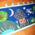 """""""Jó éjszakát!"""" falikép 140 x 60 cm, Baba-mama-gyerek, Gyerekszoba, Falvédő, takaró, Ez a faliképem már elkelt, de szívesen készítek hasonlót.  A képet három rétegben (béléss..., Meska"""