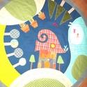 Játszószőnyeg (lego-szőnyeg), Baba-mama-gyerek, Gyerekszoba, Tárolóeszköz - gyerekszobába, Tamara kérése és ötlete alapján készítettem ezt a kör alakú játszószőnyeget (már elkelt, hasonló ren..., Meska