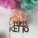 Egyedi >>CaKe ToPpEr<< (Glitter) , Dekoráció, Esküvő, Dísz, Esküvői dekoráció, Fotó, grafika, rajz, illusztráció, Papírművészet, Cake topper–Torta dekor  Egyedi tortadísz, gyermeked, családod, szeretteid számára!   A tortadísz a..., Meska
