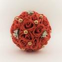 'FOAM ROSES' csokor, Dekoráció, Esküvő, Csokor, Esküvői csokor, Virágkötés, Különlegesen szép habrózsákból készült csokor! Magassága 20cm, a virágos rész átmérője kb. 14 cm. A..., Meska