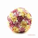 'SATIN RIBBON ROSES' csokor KÖZEPES , Dekoráció, Esküvő, Ballagás, Esküvői csokor, Virágkötés, Az örökcsokor kitűnő választás minden alkalomra, egyedi és maradandó kézműves ajándék. Adható szüle..., Meska
