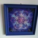 Mandala mozaik kép, Otthon, lakberendezés, Falikép, Képkeret, tükör, Festészet, Mozaik, Mérete 20x20 cm festett polisztirol kerettel, akasztóval szállítva. A kép műanyaghatású vászon alap..., Meska