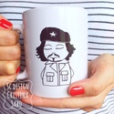 Che Guevara bögre, Che Guevara bögre. Saját grafikáimmal ellátott...