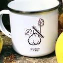 Birsalmás, Konyhafelszerelés, Dekoráció, Bögre, csésze, Dísz, Saját grafikáimmal ellátott bádog bögre 3 dl-es , Meska