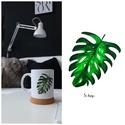 Leveles bögre, Konyhafelszerelés, Bögre, csésze, Filodendron leveles bögre zöld kedvelőknek  A bögre kerámia 3dl-es, Meska