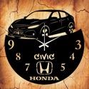 HONDA CIVIC 2016 bakelit óra, egyedi felirattal, Otthon, lakberendezés, Falióra, Mindenmás, Újrahasznosított alapanyagból készült termékek, Vagány bakelit falióra ajándékba, vagy Neked!  A csomag tartalma: 1 db a választott téma szerinti b..., Meska