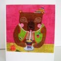 Boldog születésnapot! képeslap, Naptár, képeslap, album, Képzőművészet, Képeslap, levélpapír, Képeslap sorozatot készítettem az illusztrációimból. Mindegyik 250 grammos, törtfehér, jó minőségű, ..., Meska