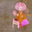 Nőideálom 2011 - illusztráció, digitális festmény, Dekoráció, Képzőművészet, Kép, Illusztráció, Fotó, grafika, rajz, illusztráció, Festészet, 25x25 cm-es print 250 g/m2-es matt műnyomópapíron. A papír mérete 29x29cm, a fehér sávot le lehet v..., Meska