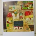 Olvasó ház képeslap, Naptár, képeslap, album, Képzőművészet, Képeslap, levélpapír, Illusztráció, Képeslap sorozatot készítettem az illusztrációimból. Mindegyik 250 grammos, törtfehér, jó minőségű, ..., Meska
