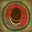 Krumpli asszonyság, Dekoráció, Képzőművészet, Kép, Grafika, 25x25 cm-es print fehér passpartout-val 250 g/m2-es matt műnyomópapíron. , Meska