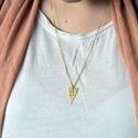 Madaras háromszög alakú réz nyaklánc (schalleszter) - Meska.hu