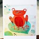 Béka képeslap, Naptár, képeslap, album, Képzőművészet, Képeslap, levélpapír, Grafika, Képeslap sorozatot készítettem az illusztrációimból. Mindegyik 250 grammos, törtfehér, jó minőségű, ..., Meska