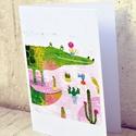 Krokokaktusz képeslap, Naptár, képeslap, album, Képzőművészet, Képeslap, levélpapír, Grafika, Képeslap sorozatot készítettem az illusztrációimból. Mindegyik 250 grammos, törtfehér, jó minőségű, ..., Meska