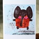 Elefánt képeslap, Naptár, képeslap, album, Képzőművészet, Képeslap, levélpapír, Grafika, Képeslap sorozatot készítettem az illusztrációimból. Mindegyik 250 grammos, törtfehér, jó minőségű, ..., Meska