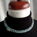 Fonott elegancia, Ékszer, Ékszerszett, Nyaklánc, Karkötő, Kumihimo technikával készített nyaklánc és karkötő szett 3 féle színben. A nyakláncot pici orchidea ..., Meska