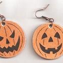 Halloween fa fülbevaló