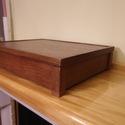 Asztali Irattartó fadoboz, Vékony lazurral festett irattartó doboz. Mérete...