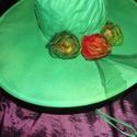 Meseerdei vászonkalap, Ruha, divat, cipő, Esküvői ruha, Festett tárgyak, Festett összecsukható vászon kalap  Amerikából rendeltem ezeket a fehér vászonkalapokat is /a selye..., Meska