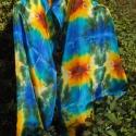 Napraforgó mintás, egyedi tervezésű selyemsál