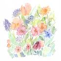 """Vadvirágok - Akvarell virágok és levélkék - art print (akvarell festményem alapján), Képzőművészet, Illusztráció, Festmény, Akvarell, Festészet, Fotó, grafika, rajz, illusztráció, Vadvirágok - Akvarell virágok és levélkék - art print (akvarell festményem alapján)   """"Vadvirágok"""" ..., Meska"""