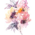 Fali kép: Nyári virágok / Akvarell virágok - MINI art print 13 x 17 cm / mini poszter / virágos dekoráció / otthon lakás, Képzőművészet, Otthon, lakberendezés, Festészet, Fotó, grafika, rajz, illusztráció, Fali kép: Nyári virágok / Akvarell virágok - MINI art print 13 x 17 cm / mini poszter / virágos dek..., Meska