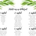 Esküvői ültetési rend Zöld leveles akvarell / esküvőre asztalok rendje / esküvői kellékek / esküvői ültetési tábla, Esküvő, Meghívó, ültetőkártya, köszönőajándék, Esküvői dekoráció, Esküvői ültetési rend Zöld leveles akvarell / esküvőre asztalok rendje / esküvői kellékek / esküvői ..., Meska