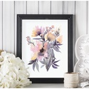 Falikép SZETT Virág trió - 3 db akvarell művészi nyomat A4-es méretben, Otthon, lakberendezés, Képzőművészet, Falikép, Festészet, Fotó, grafika, rajz, illusztráció, Falikép SZETT Virág trió - 3 db akvarell művészi nyomat A4-es méretben  A nyomatok eredetije akvare..., Meska