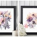Falikép SZETT Virág duó - 2 db akvarell művészi nyomat A4-es méretben, Otthon, lakberendezés, Képzőművészet, Falikép, Falikép SZETT Virág duó - 2 db akvarell művészi nyomat A4-es méretben  A nyomat eredetije akvarellel..., Meska