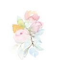 Falikép: Rózsaszín és menta harmónia akvarell - art print (akvarell festményem alapján), Képzőművészet, Illusztráció, Festmény, Akvarell, Festészet, Fotó, grafika, rajz, illusztráció, Falikép: Rózsaszín és menta harmónia akvarell - art print (akvarell festményem alapján)  Méret: 21 ..., Meska