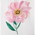 Rózsaszín peónia akvarell virág festmény (eredeti), Képzőművészet, Festmény, Akvarell, Rózsaszín peónia akvarell virág festmény (eredeti)  Egy szál rózsaszín peónia (bazsarózsa) :) eredet..., Meska