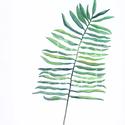 Falikép: zöld leveles kép art print (akvarell festményem alapján), Képzőművészet, Illusztráció, Festmény, Akvarell, Falikép: zöld leveles kép art print (akvarell festményem alapján)  Méret: 21 x 29,7 cm (A4)  Szépség..., Meska