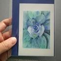 Succulent kövirózsa - MINI art print (akvarell festményem alapján), Dekoráció, Képzőművészet, Csokor, Illusztráció, Festészet, Fotó, grafika, rajz, illusztráció, Succulent kövirózsa- MINI art print (akvarell festményem alapján)  Méret: 8 x 12 cm (a legkisebb ik..., Meska