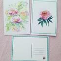 Képeslap csomag 6db képeslap Tavaszi kert c. és Rózsaszín peónia akvarell képemmel, Képzőművészet, Naptár, képeslap, album, Illusztráció, Képeslap, levélpapír, Képeslap csomag 6db képeslap Tavaszi kert és Rózsaszín peónia c. akvarell képemmel  Méret: 14,8 x 10..., Meska