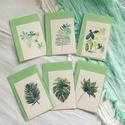 Zöld levelek botanikus képek - 6db MINI art print (akvarell festményeim alapján) 8 x 12 cm, Dekoráció, Képzőművészet, Csokor, Illusztráció, Zöld levelek botanikus képek - 6db MINI art print (akvarell festményeim alapján) 8 x 12 cm  6db-os m..., Meska