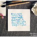 """Esküvői idézet kalligráfia türkiz kék betűkkel akvarell papíron (Weöres Sándor vers), Képzőművészet, Illusztráció, Esküvői idézet kalligráfia türkiz kék betűkkel akvarell papíron (Weöres Sándor vers)  """"Keverd a szív..., Meska"""