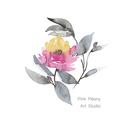 Falikép: Rózsa egy esős napon - art print (akvarell festményem alapján), Képzőművészet, Illusztráció, Festmény, Akvarell, Falikép: Rózsa egy esős napon - art print (akvarell festményem alapján)  Méret: 21 x 29,7 cm (A4)  R..., Meska