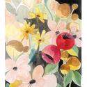 Akvarell virágok a titkos kertben - art print (akvarell festményem alapján), Képzőművészet, Otthon, lakberendezés, Akvarell virágok a titkos kertben - art print (akvarell festményem alapján)  Csupa színes virág egy ..., Meska