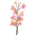 """Tavaszi virágos ágacska - Akvarell Art Print A3as méret, Otthon, lakberendezés, Képzőművészet, Tavaszi virágos ágacska - Akvarell Art Print A4es méret (akvarell festményem alapján)  """"Tavaszi virá..., Meska"""