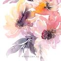 Fali kép: Nyári virágok / Akvarell virágok - art print A4-es cm poszter / virágos dekoráció / otthon lakás, Képzőművészet, Otthon, lakberendezés, Fali kép: Nyári virágok / Akvarell virágok - art print A4-es cm poszter / virágos dekoráció / otthon..., Meska