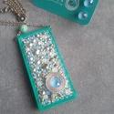 Starry Night - Crystal Turquoise szettje (türkiz-világoskék-ezüst), Ékszer, óra, Ékszerszett, Nyaklánc, Fülbevaló, Egy újabb finom és nőies szépség, a tőlem megszokott kis csavarral, hogy igazán belevaló leg..., Meska