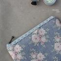 Vintage virágos neszi, Szépségápolás, Táska, Neszesszer, Pénztárca, tok, tárca, Tilda design, csodás textiljéből készült neszesszer, melynek mérete a következő lett: 15cm*18cm. Csi..., Meska