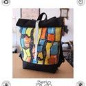Serin színes hátizsák , Táska, Hátizsák, Egyéni hátizsák. Vintage vászon takaró mely   alatt cordura található, ami a táskának tartást ad ill..., Meska