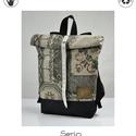 Serin hátizsák 1. , Táska, Hátizsák, Egyéni hátizsák. A táska külseje régi bútorszövet,  alatta pedig cordura található, ami a táskának t..., Meska